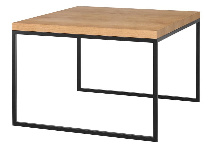 Stůl do obývacího pokoje z přírodní dubové dýhy kov